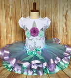 Personalized Unicorn Birthday Outfit