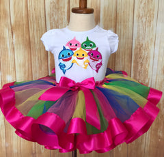 Baby Shark Tutu Set, Baby Shark Birthday Outfit