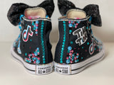 Tik Tok Birthday Blinged Converse, Little Kids Shoe Size 10-2