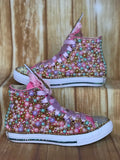 Unicorn Converse, Infants and Toddler Shoe Size 2-9 (Hard Sole)