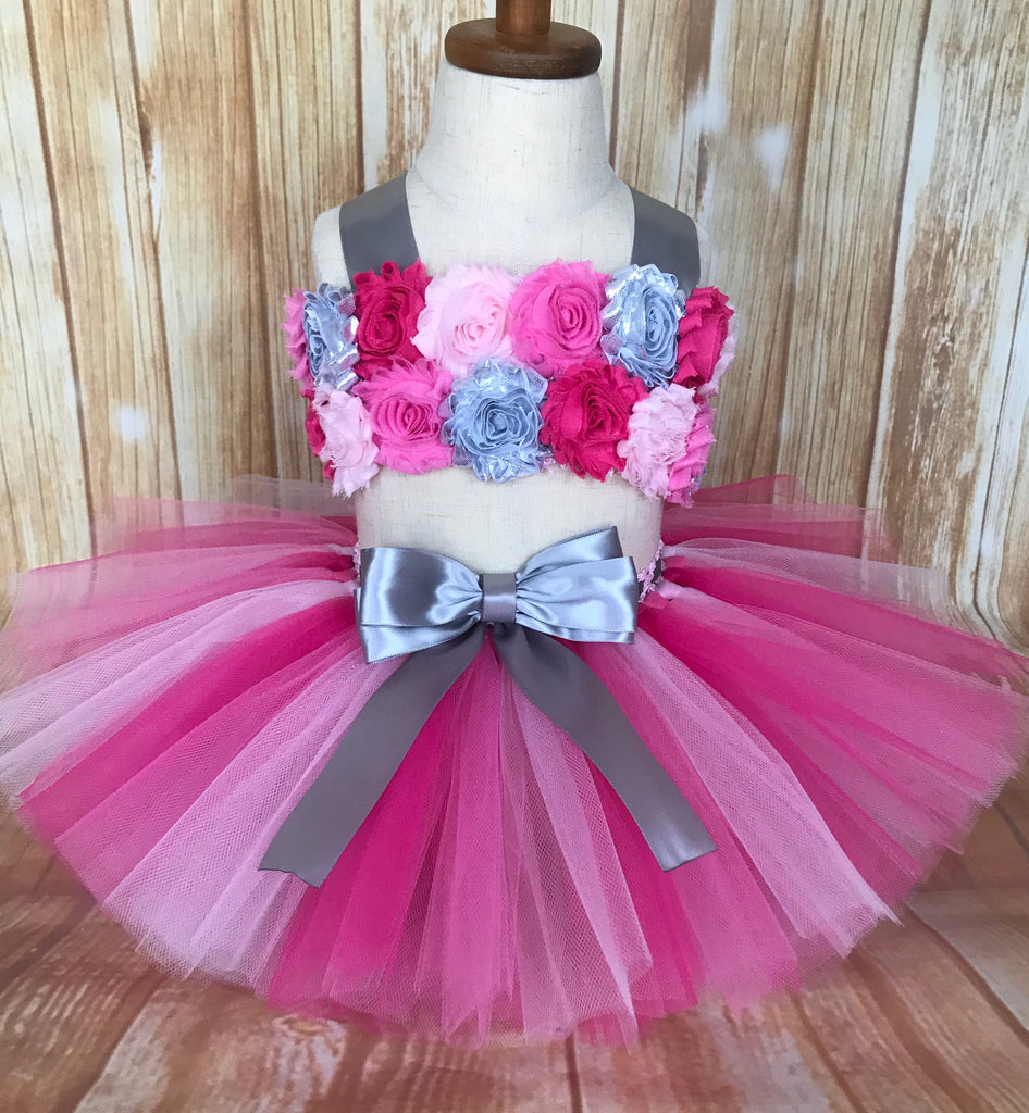Pink Smash Cake Tutu Set, First Birthday Tutu