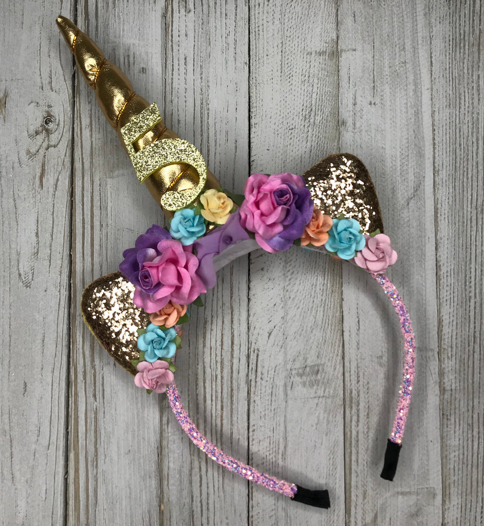 Custom Birthday Unicorn Headband