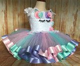 Unicorn Lace Tutu Dress, Unicorn Tutu, Unicorn Birthday Outfit