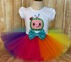 Cocomelon Rainbow Birthday Tutu Outfit