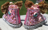 Donut Blinged Converse All Stars, Big Kids Shoe Size 3-6