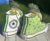 Princess Tiana Custom Converse, Big Kids Shoe Size 3-6