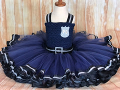 Police Tutu Costume, Police Tutu Dress, Girls Police Halloween Costume
