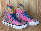 Jojo Blinged Converse Sneakers, Big Kids Shoe Size 3-6