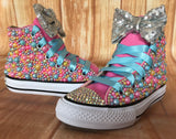 Baby Shark Color Themed Converse Sneakers, Infants and Toddler Shoe Size 2-9