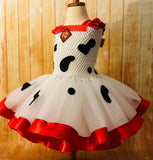 Dalmatian Ribbon Tutu, Dalmatian Costume, Girls Scooby Doo Dress