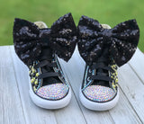 LOL Surprise Doll Queen Bee Converse Sneakers, Infants and Toddler Shoe Size 2-9(Hard Sole)