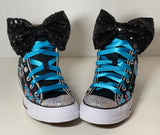 Tik Tok Blinged Converse Sneakers, Infants and Toddler Shoe Size 2-9