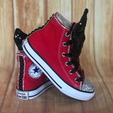 Red Touch of Bling Converse Sneakers, Little Kids Shoe Size 10-2