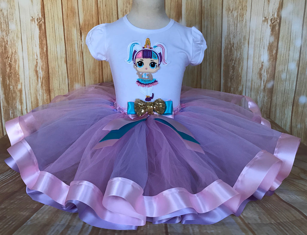 LOL Surprise Doll Unicorn Tutu Set, Unicorn Birthday Outfit