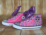 LOL Surprise Doll Center Stage Converse Sneakers, Little Kids Shoe Size 10-2
