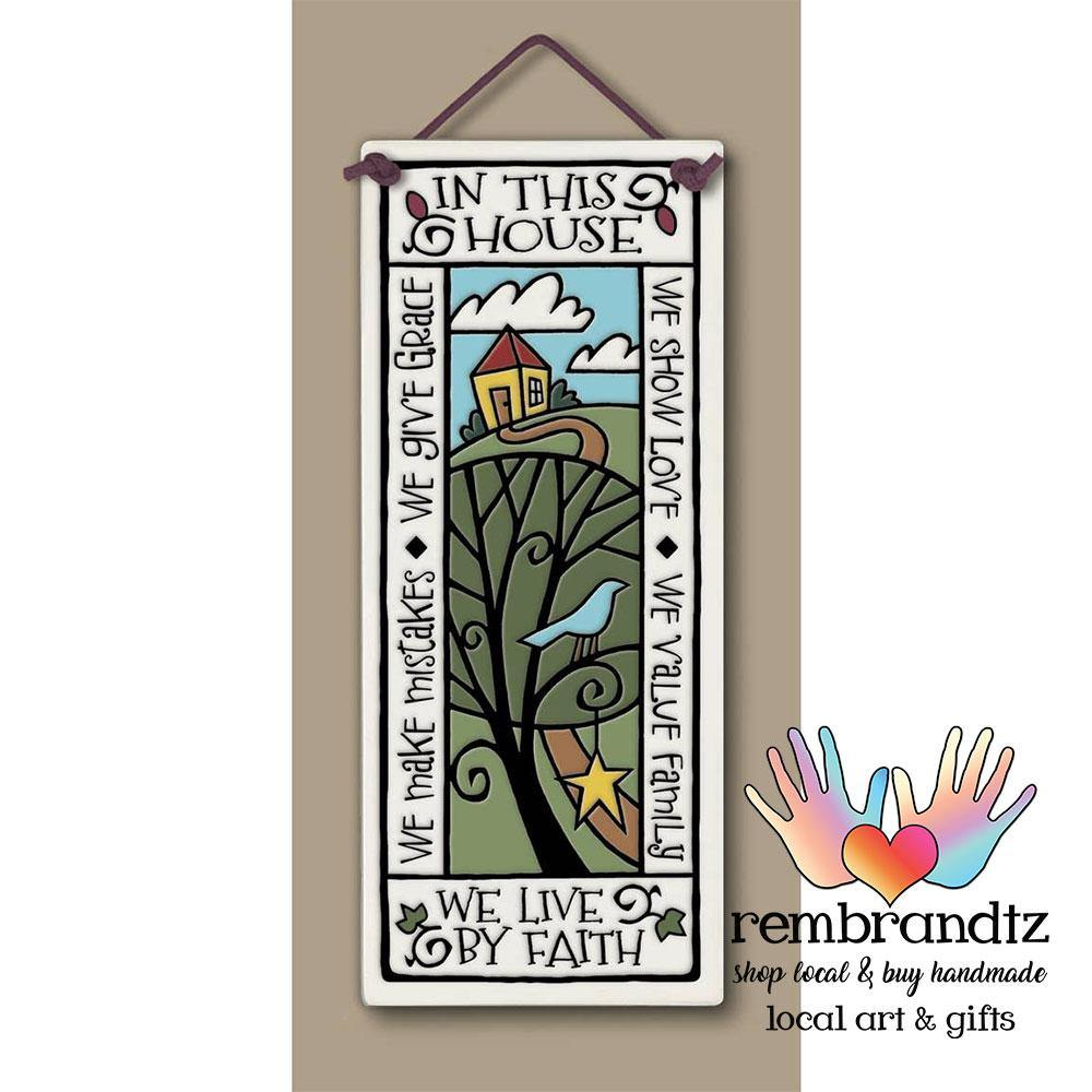 Large Tall Art Tile - Rembrandtz