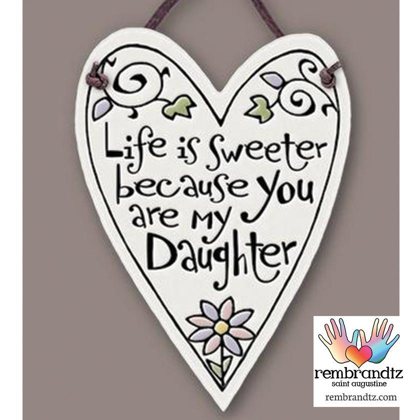 Sweeter Daughter Heart Tile - Rembrandtz