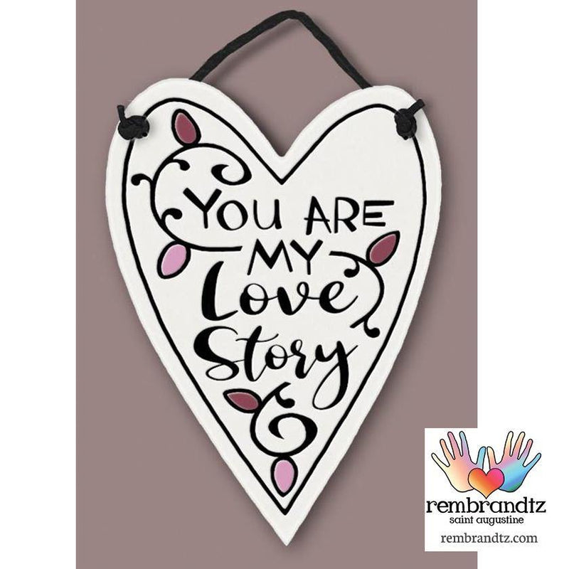 My Love Story Heart Tile