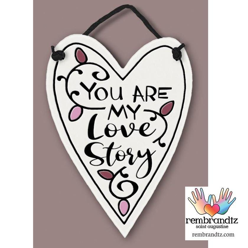 My Love Story Art Tile