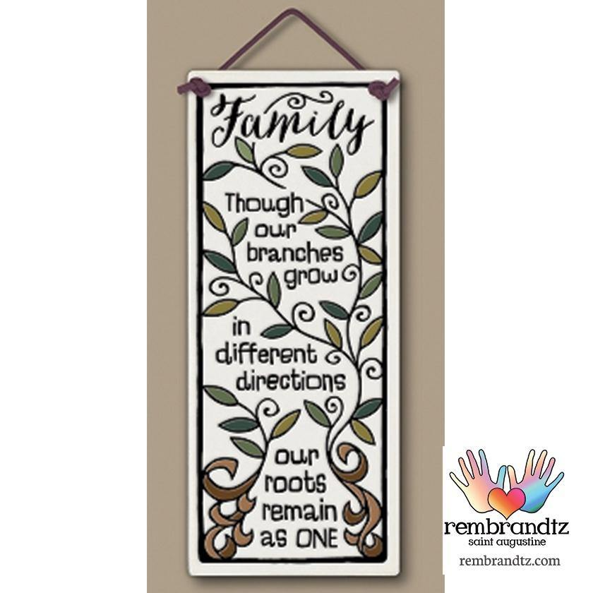 Family Branches Art Tile