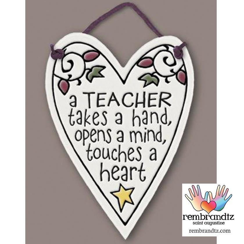 Teacher Heart Tile - Rembrandtz