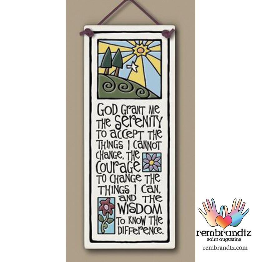 Serenity Prayer Art Tile - Rembrandtz