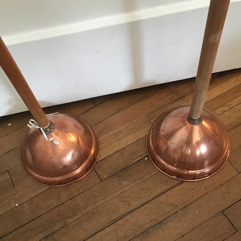 Copper Antique Clothing Washers