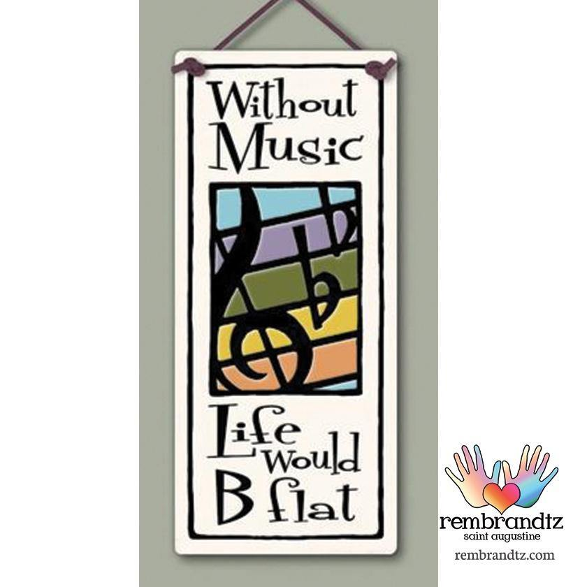 Without Music Art Tile - Rembrandtz