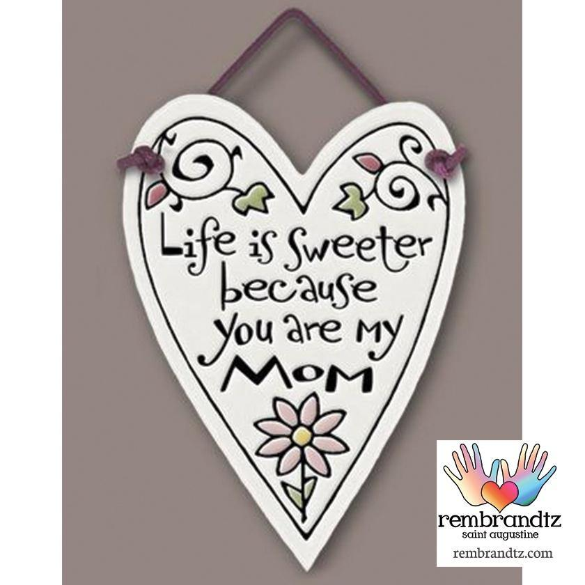 Sweeter Mom Heart Tile - Rembrandtz