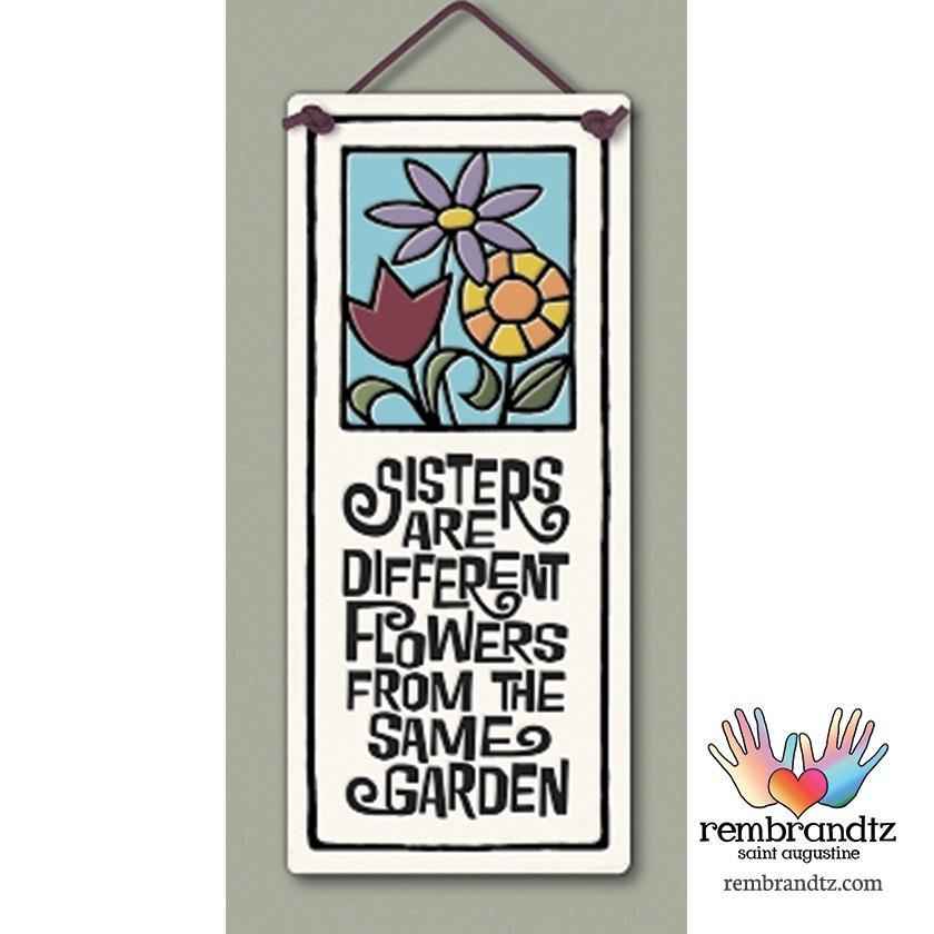 Sisters are Flowers Art Tile
