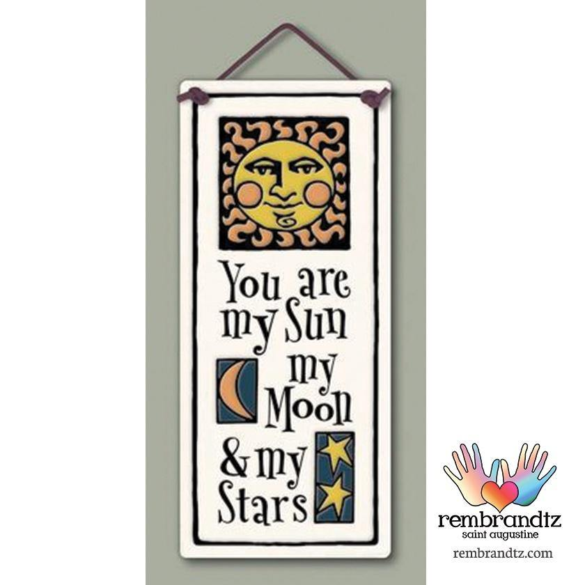 Sun Moon and Stars Art Tile - Rembrandtz