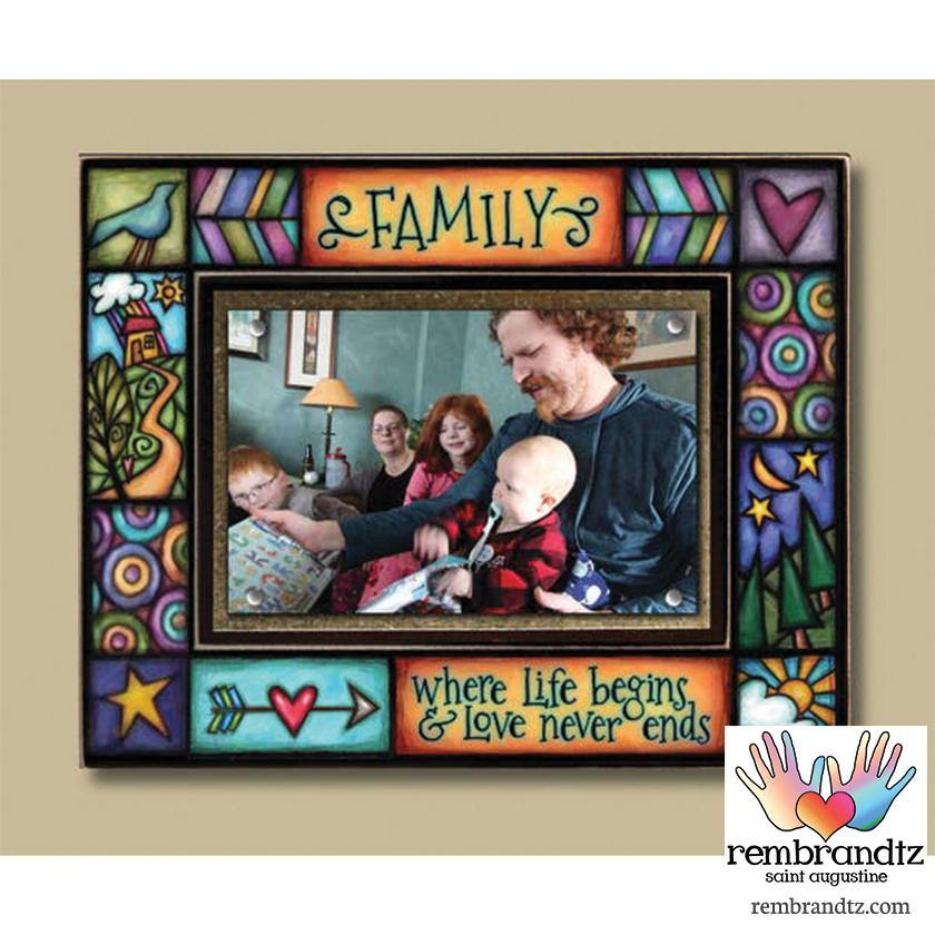 Family Where Life Begins Picture Frame