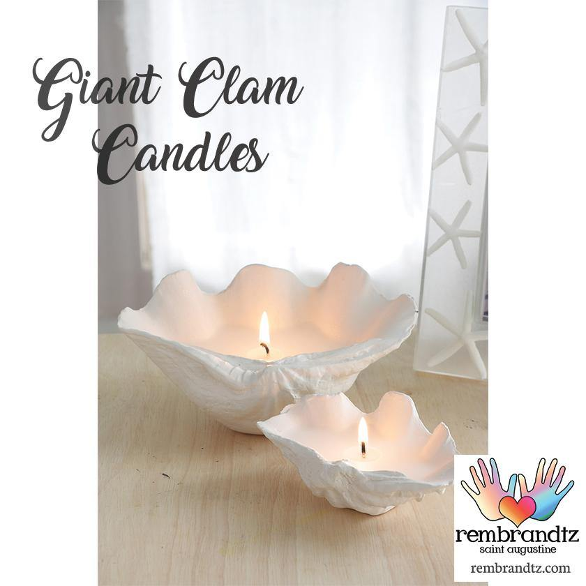 Seashell Clam Luminary Candles - Rembrandtz