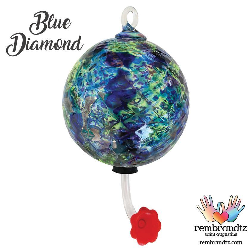 Blue Diamond Hummingbird Feeder - Rembrandtz