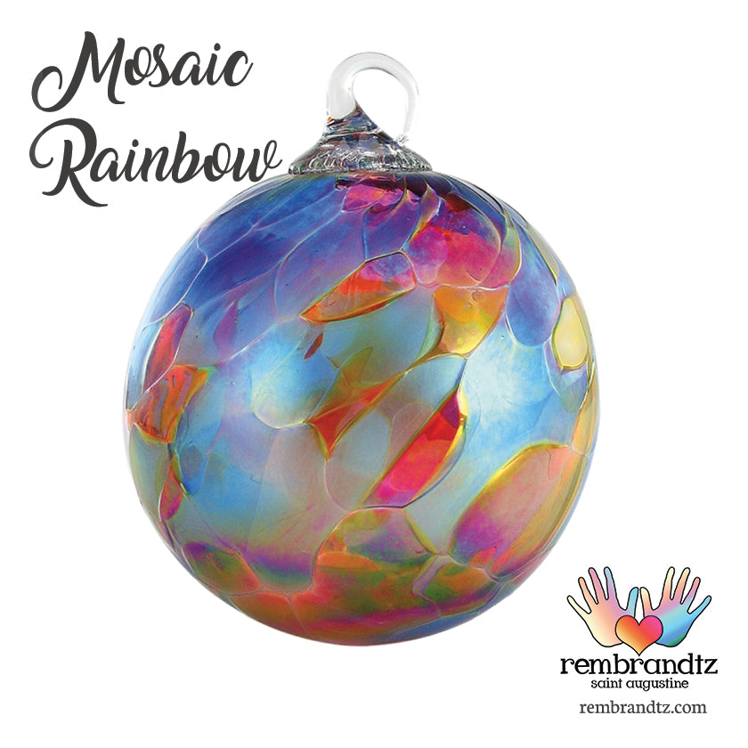 Mosaic Rainbow Ornament