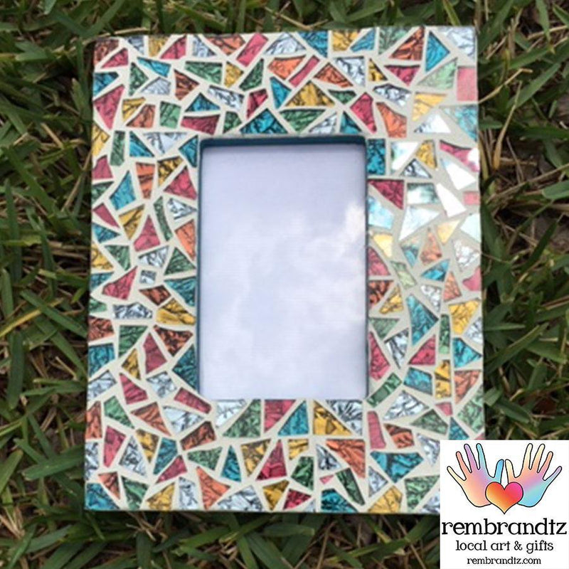 Mosaic Multi Color Photo Frame Handmade