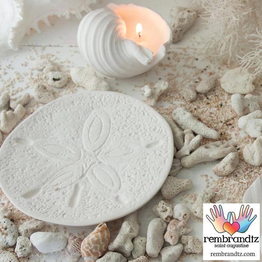 Sand Dollar Candle Tray