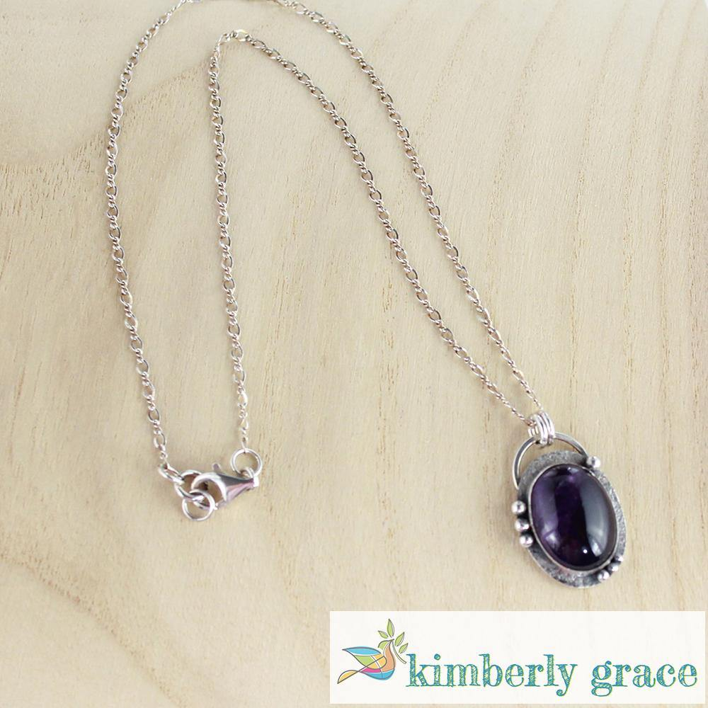 Necklace Sterling Amethyst Handcrafted - Rembrandtz
