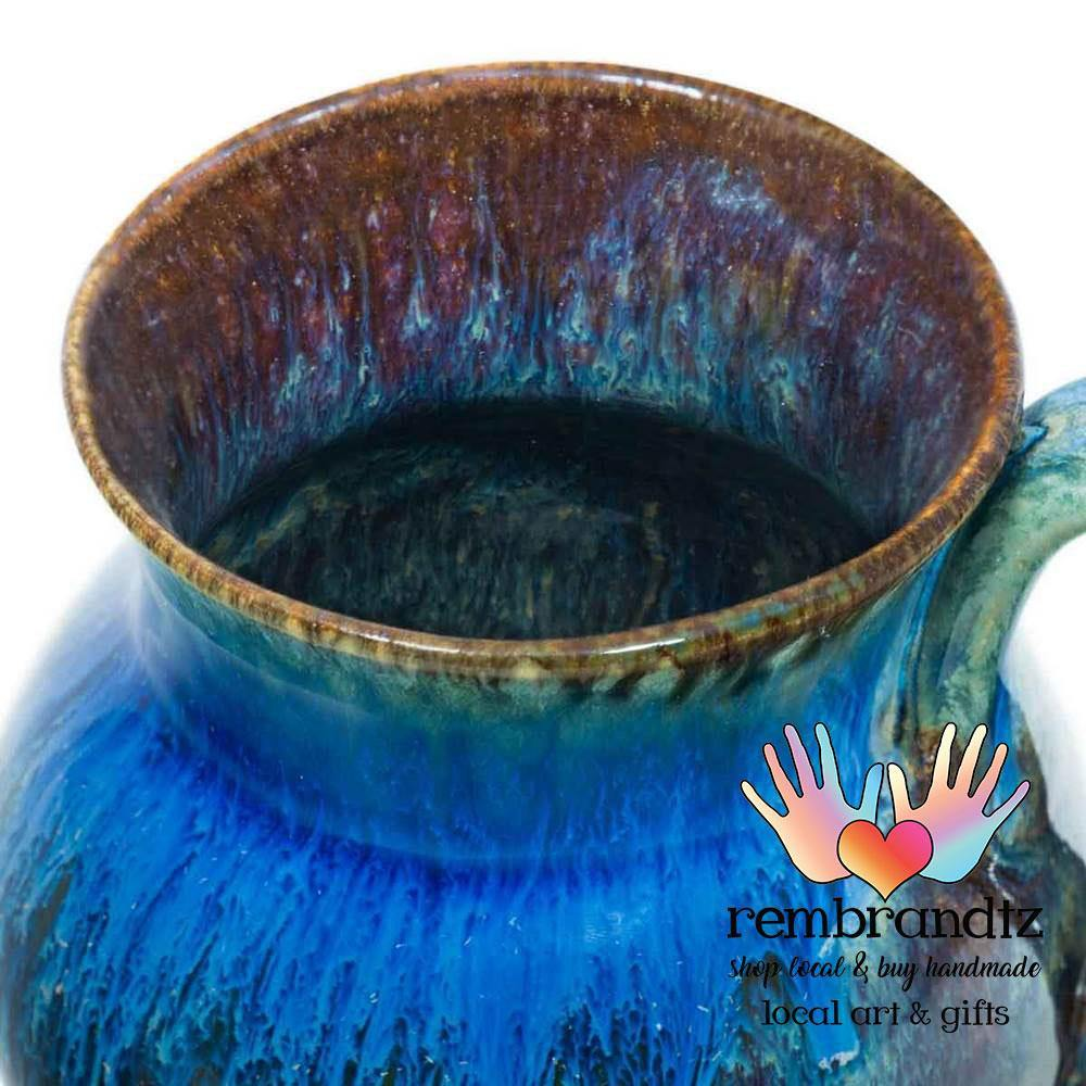 Round Ceramic Coffee Mug Blue - Rembrandtz
