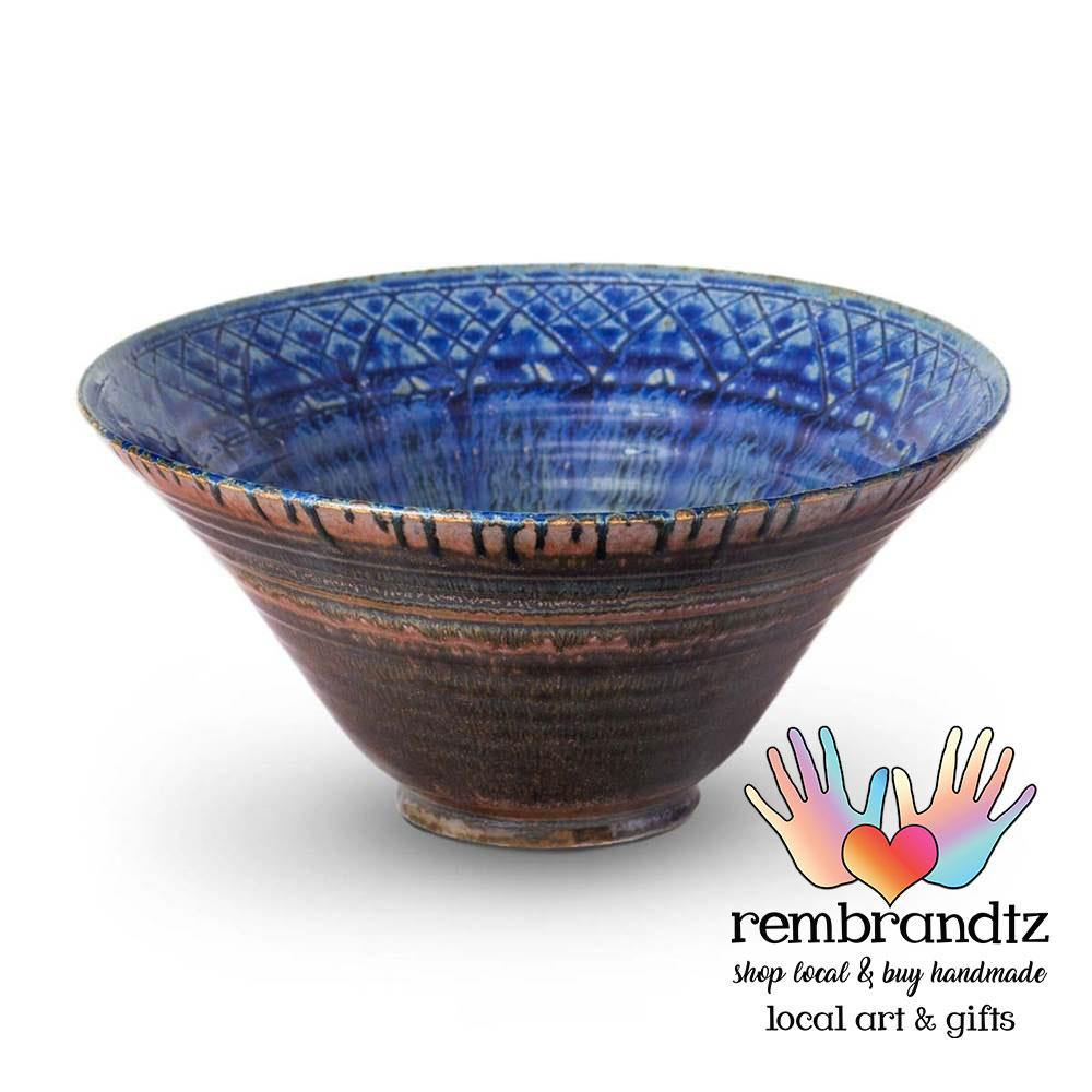 Lotus Ceramic Bowl Medium Blue - Rembrandtz