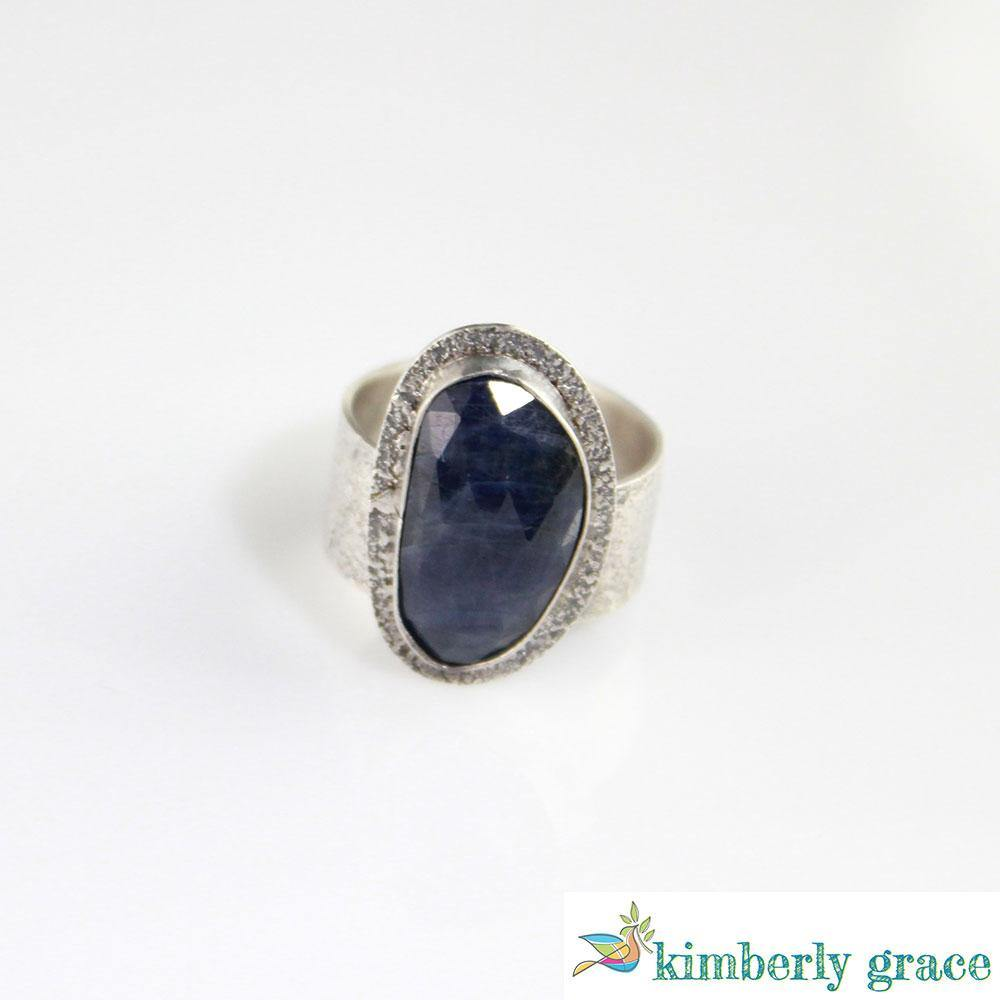 Ring Sterling and Blue Rosecut Sapphire II - Rembrandtz