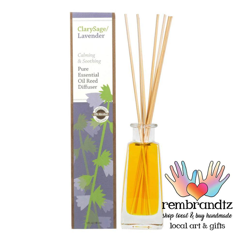 Lavender Clary Sage Essential Oil Reed Diffuser Large - Rembrandtz