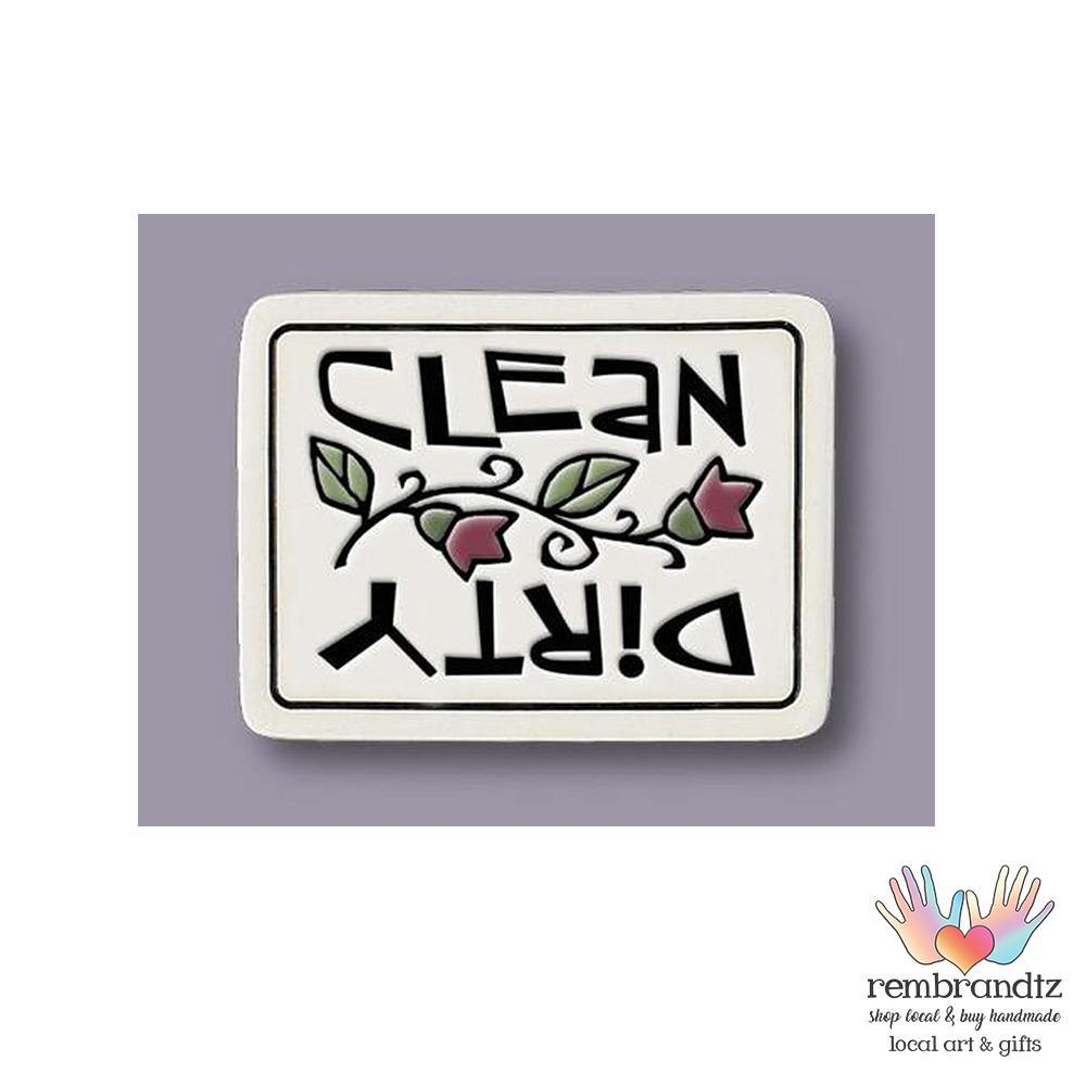 Clean Dirty Art Tile Magnet - Rembrandtz