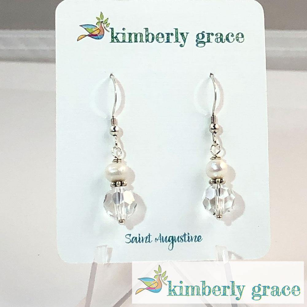 Earrings Crystal Pearl Kimberly Grace