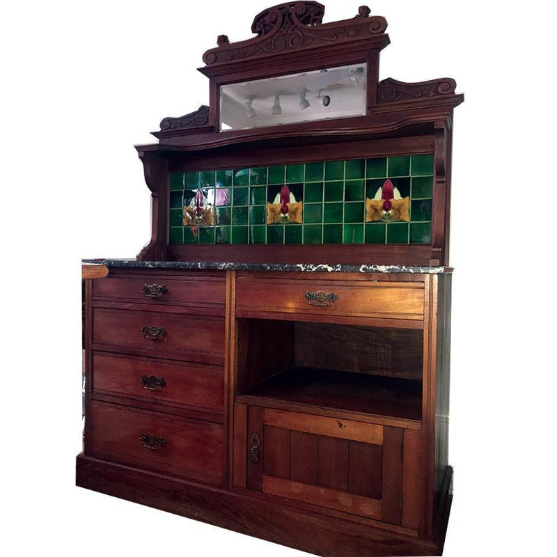 English Antique Server/Dry Sink