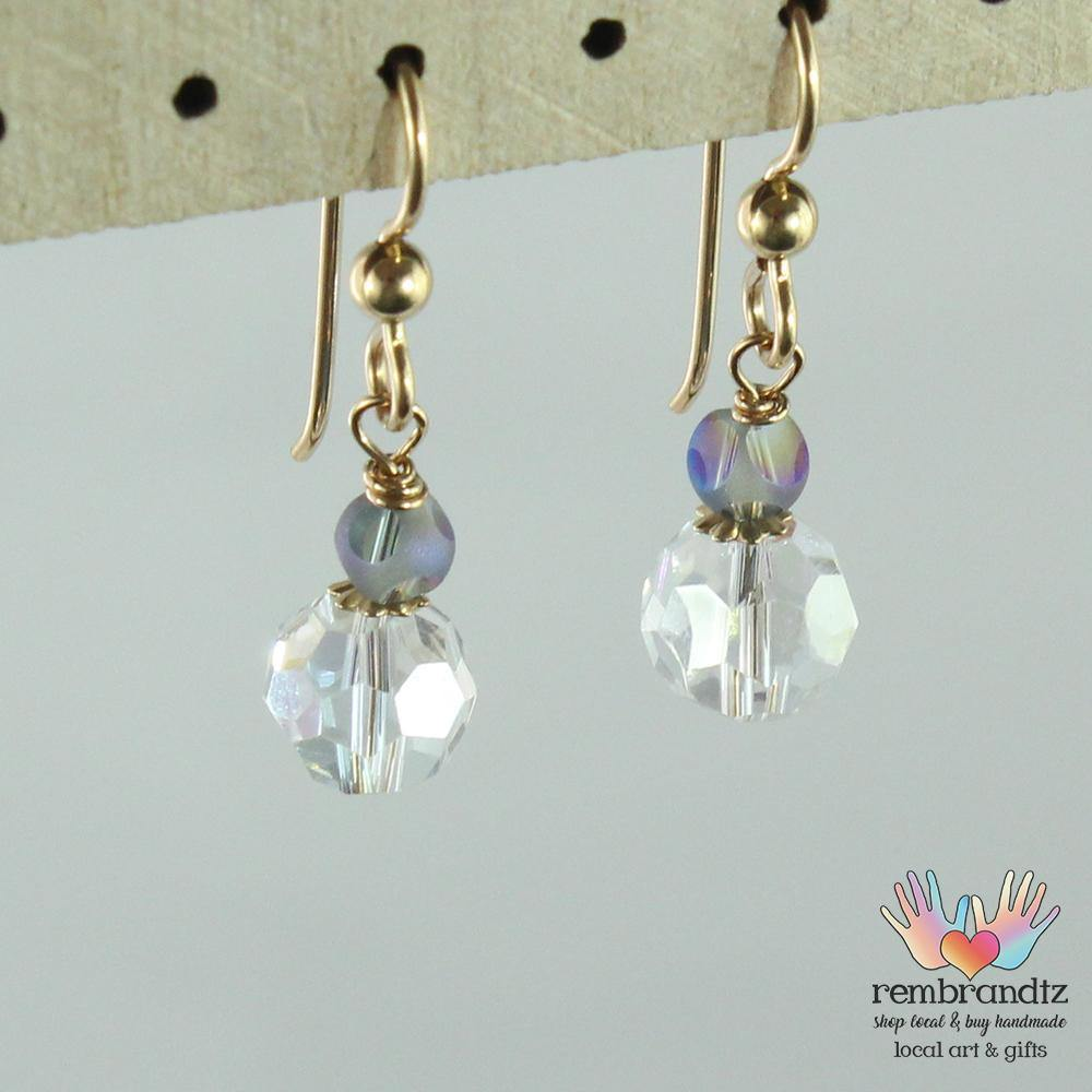 Earrings Gold Filled Crystal - Rembrandtz