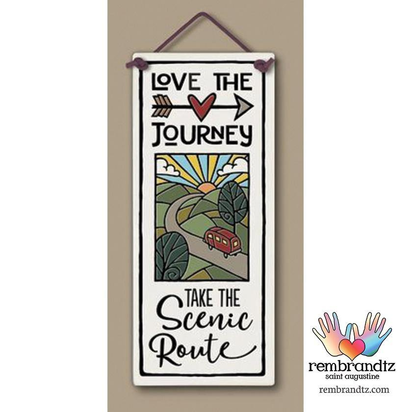 Love the Journey Art Tile - Rembrandtz