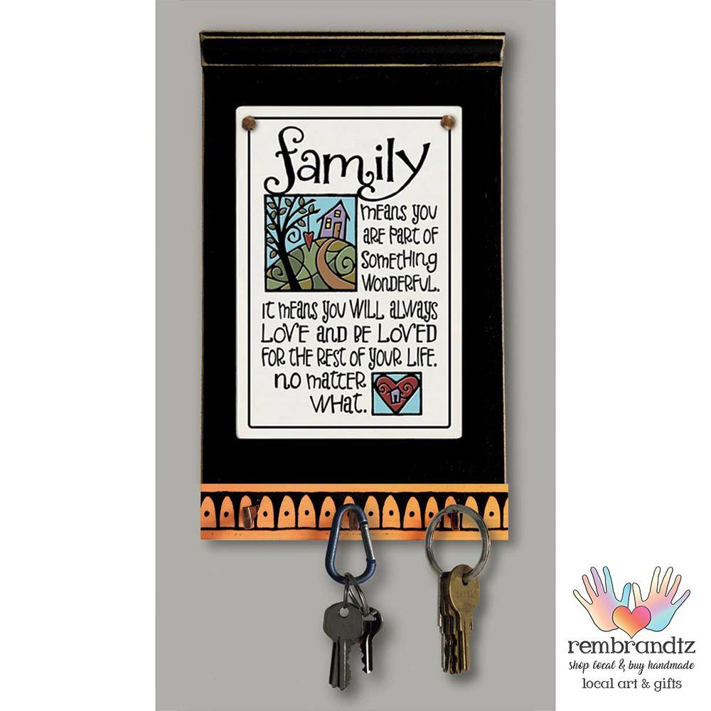 Family Means Love Key Holder - Rembrandtz