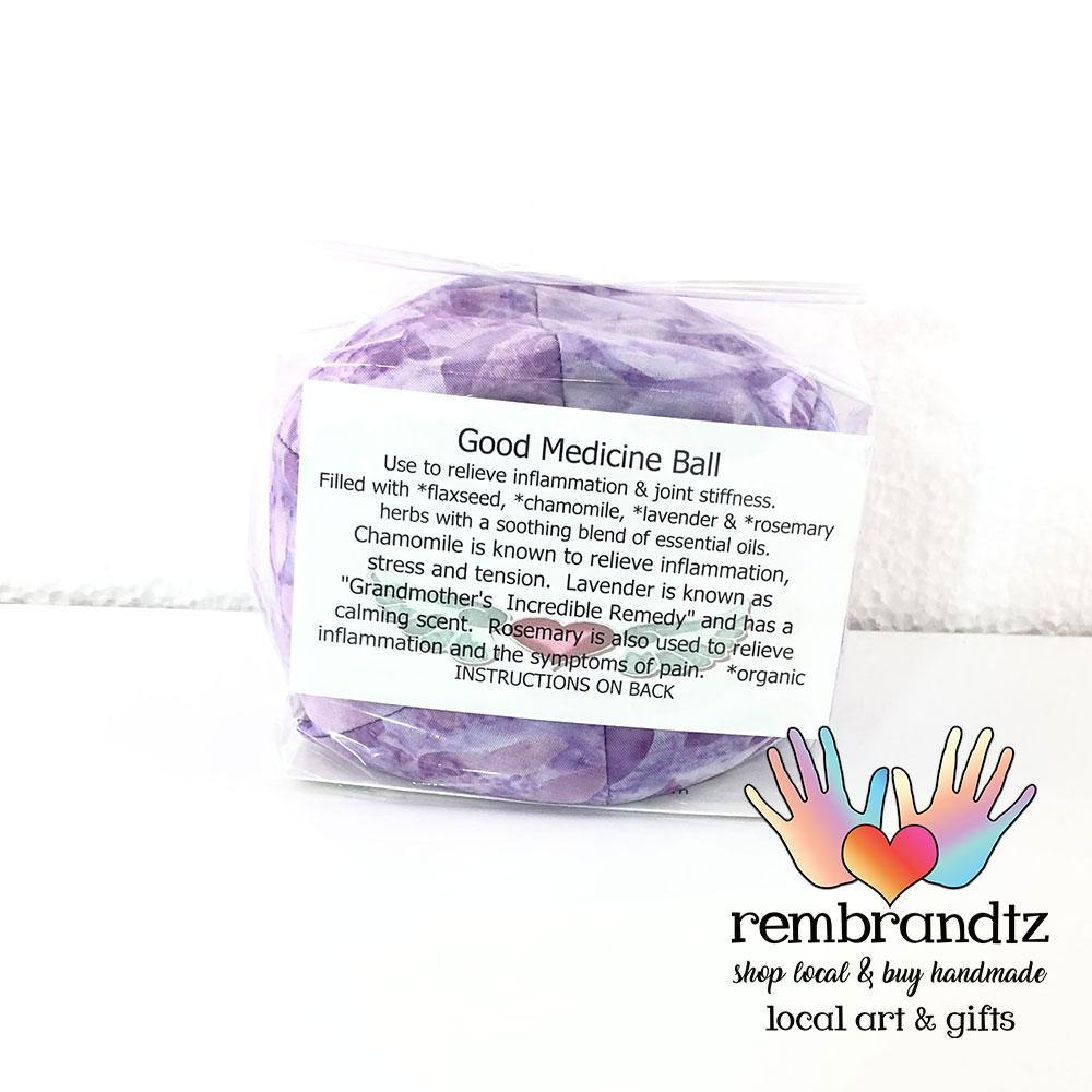 Lavender Filled Good Medicine Batik Healing Ball - Rembrandtz