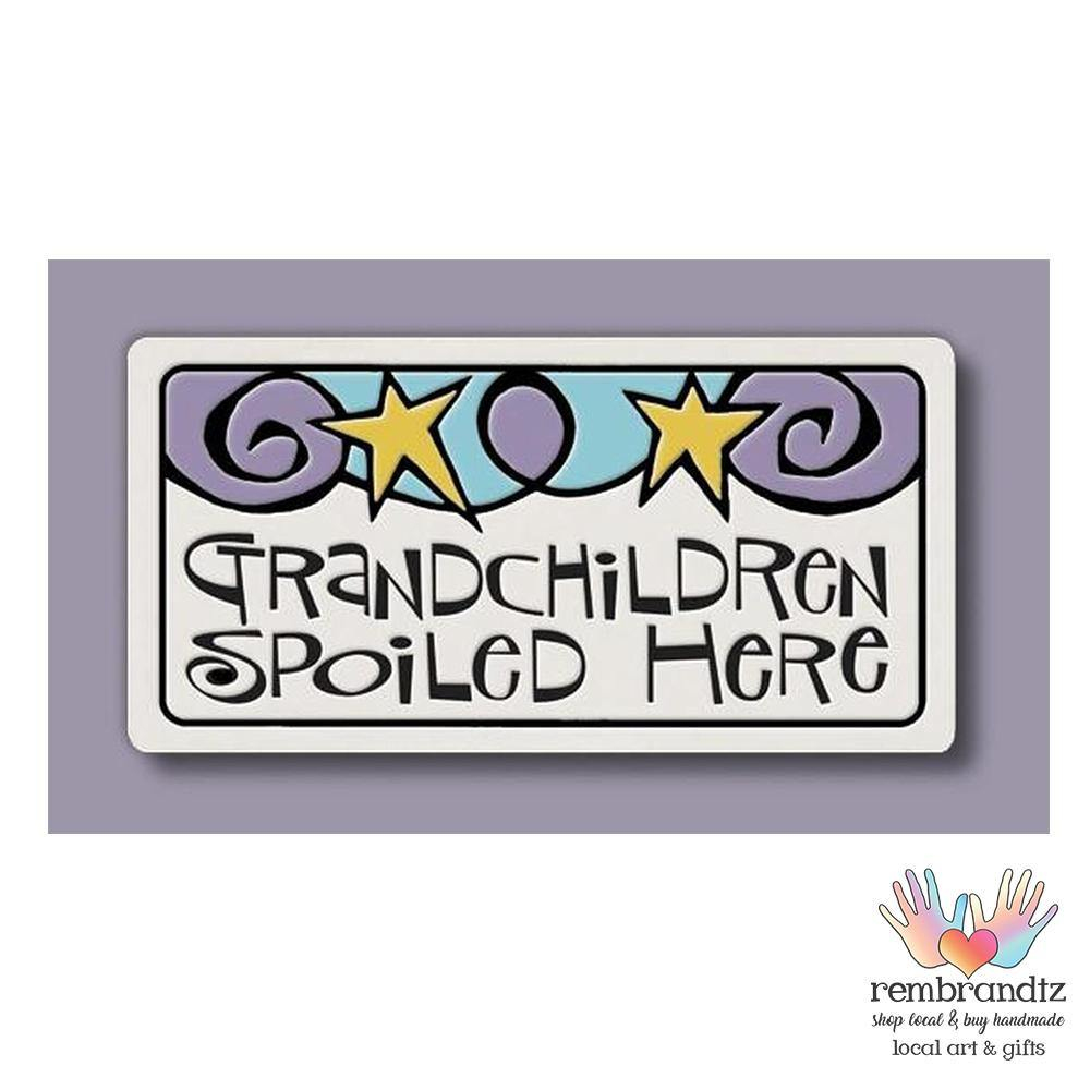 Grandchildren Art Tile Magnet - Rembrandtz
